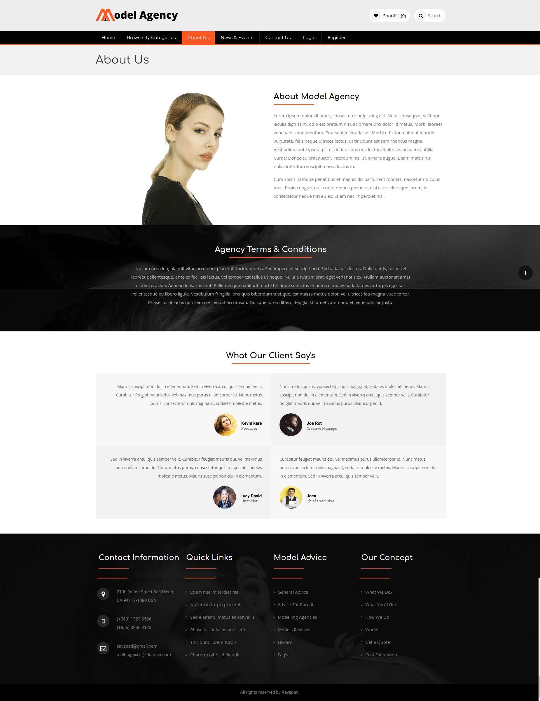Models - Fashion Model Agency WordPress Theme #artist, #casting, #comp card