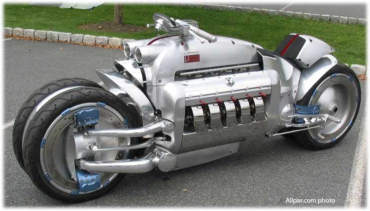 The Tomohawk Dodge Viper Engine In A Motorcycle Estimated