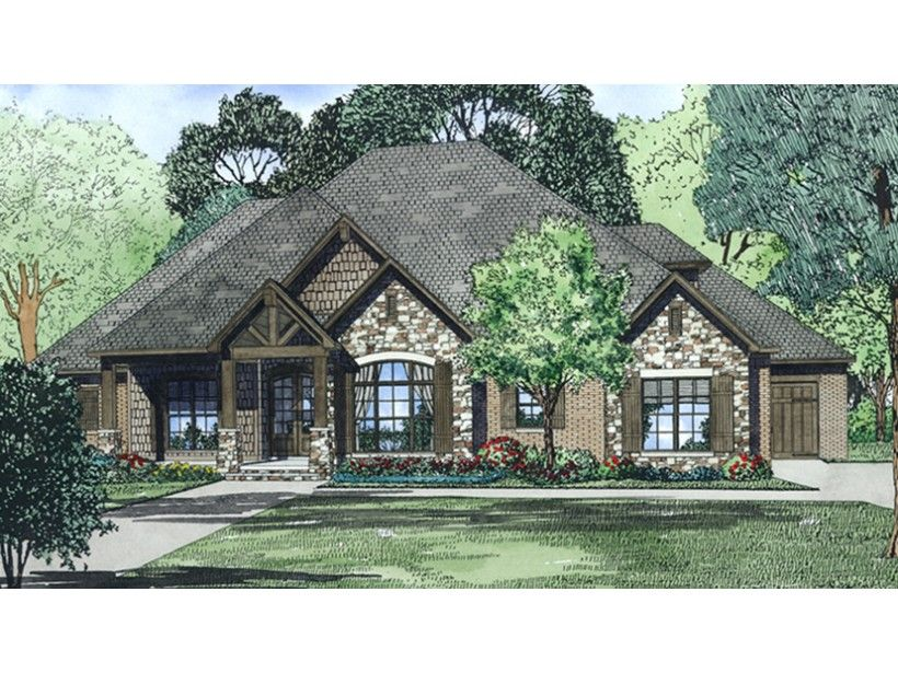 1 Story 2470 Square Foot Ready To Build House Plan From Builderhouseplans