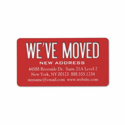 weve moved address change notification label