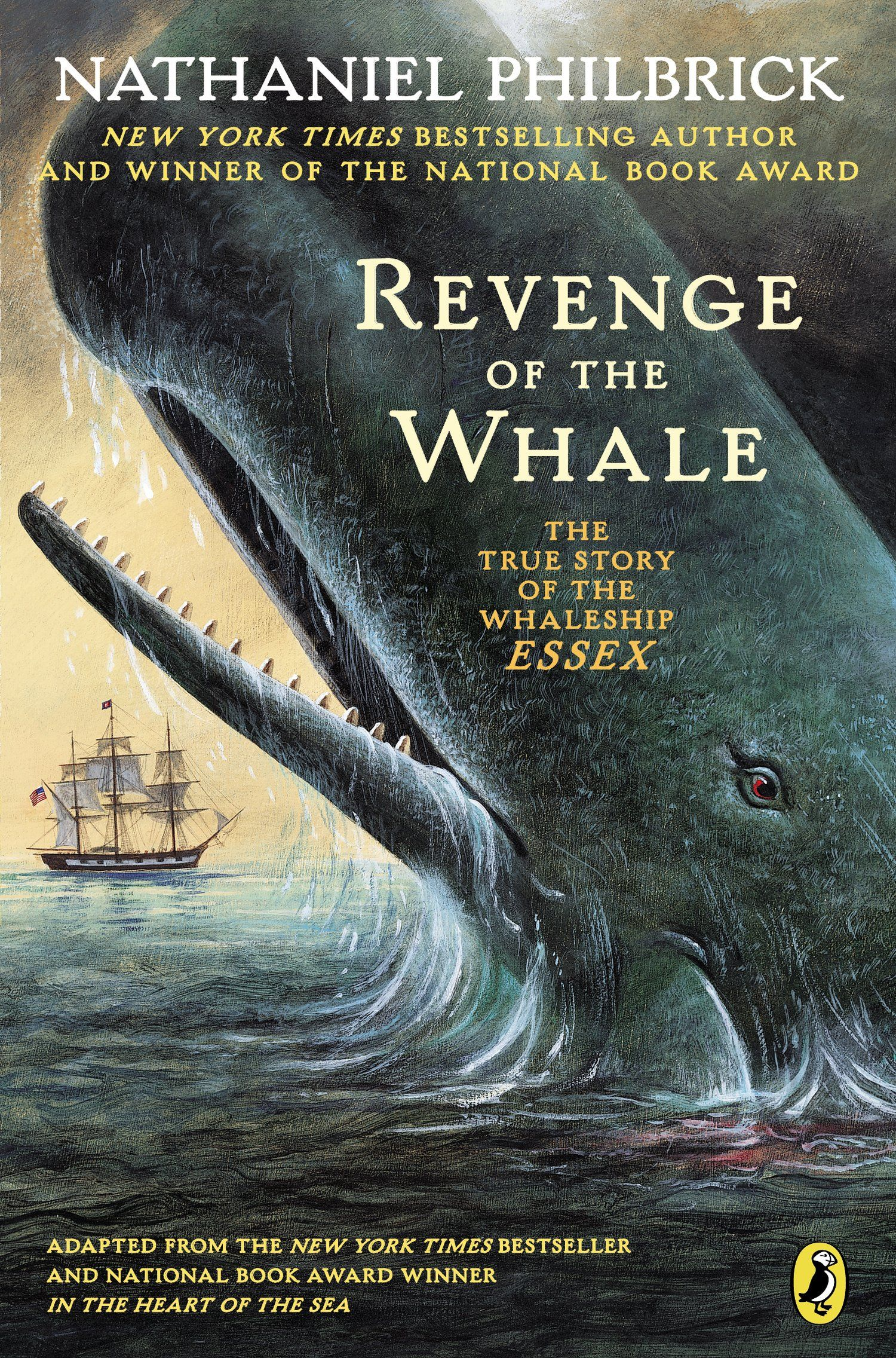 Herman Melville's Moby Dick was based on a true story. In 1820, the  whaleship Essex was stove in by a whale in the Pacific Ocean.