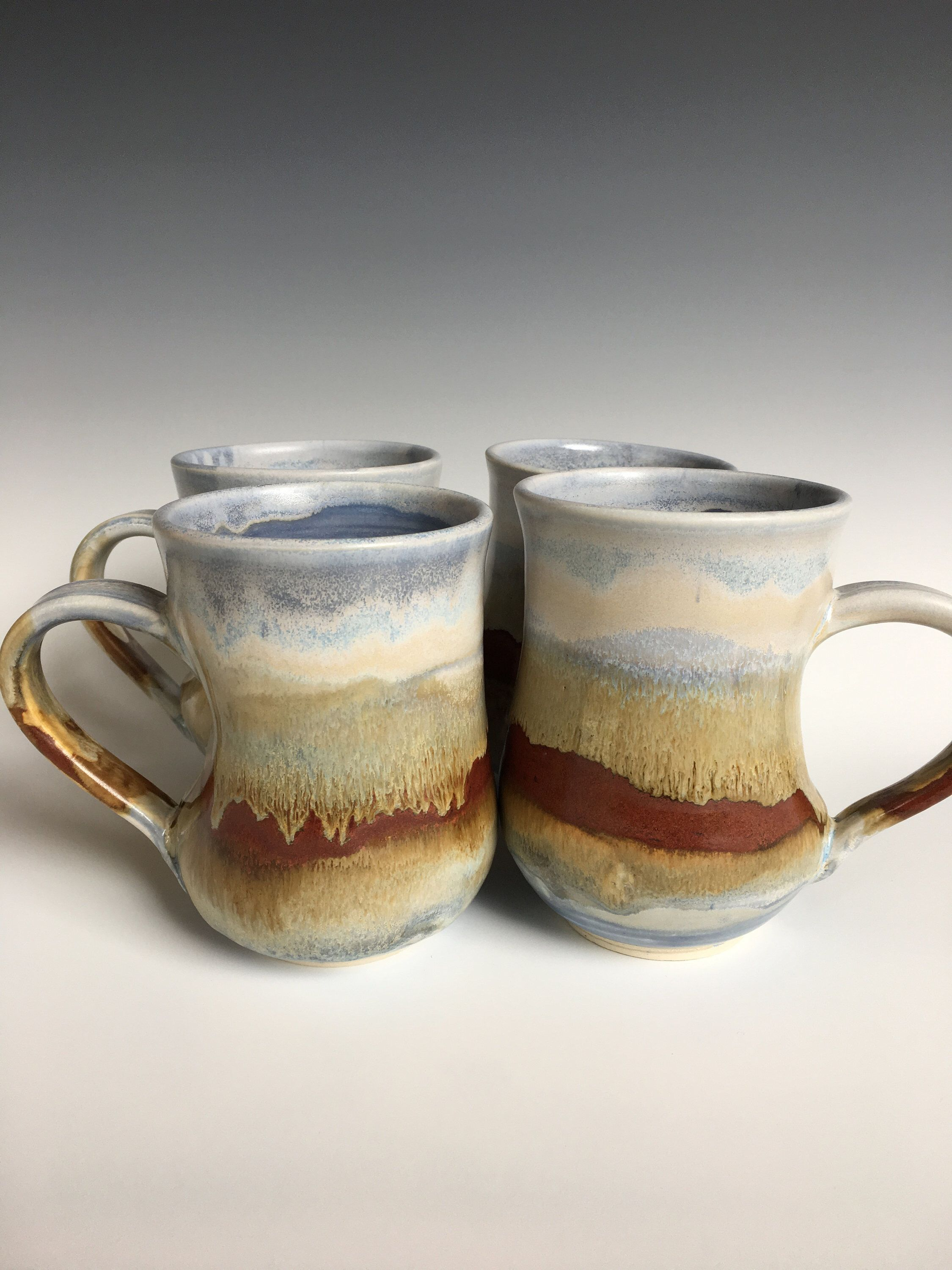 Large handcrafted porcelain mug, 14 ounce wheel thrown