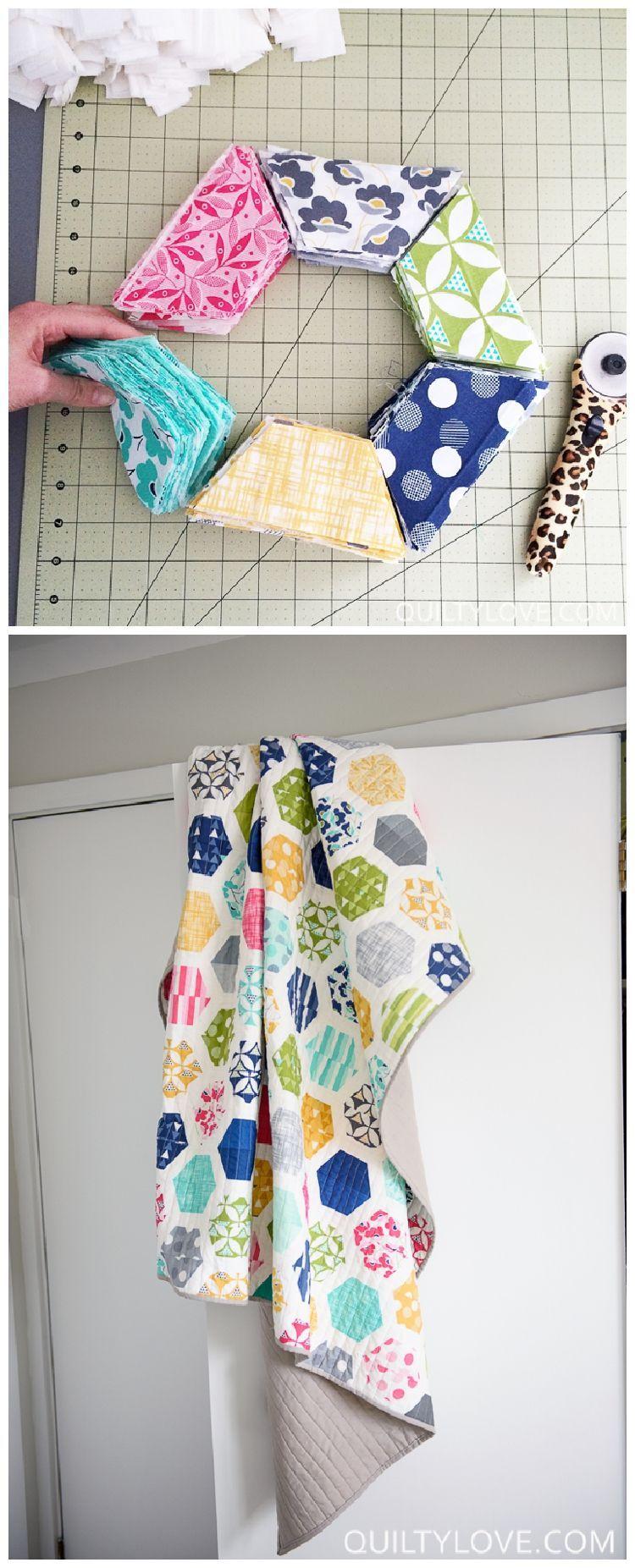 Hexie Framed Quilt Pattern