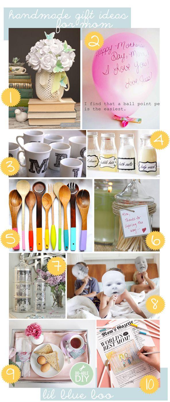 Handmade Gift Ideas for Mom Handmade gifts, Homemade