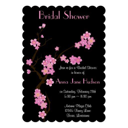 Bridal Shower - Cherry Blossom, Sakura Flowers Invitation #flowers #sakura #bridalshower #SHdesigns