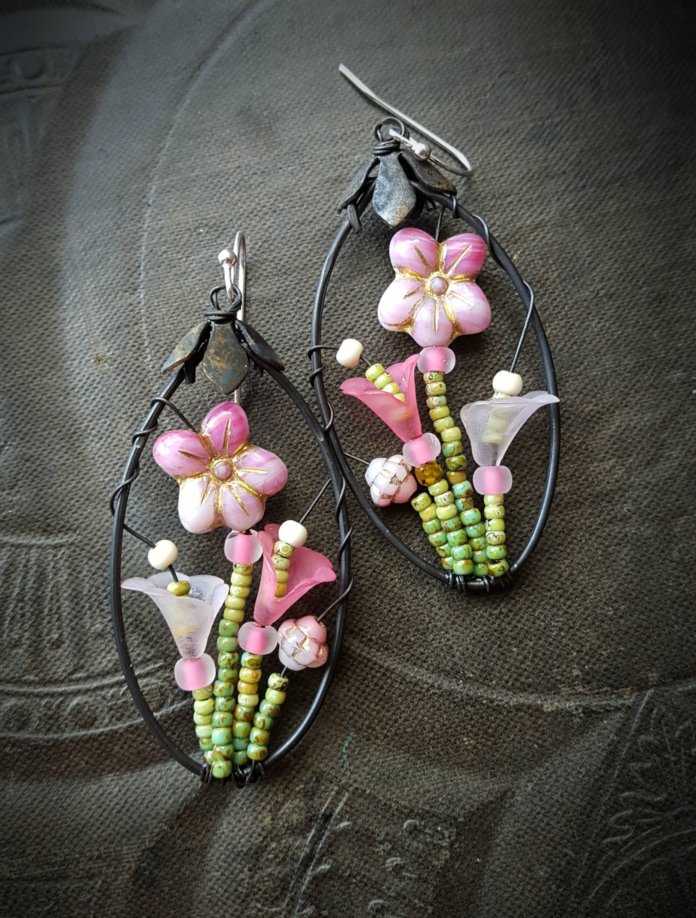 Blossom Series, Flowers, Lilies, Mothers Day, Garden, Artisan Made, Hoops