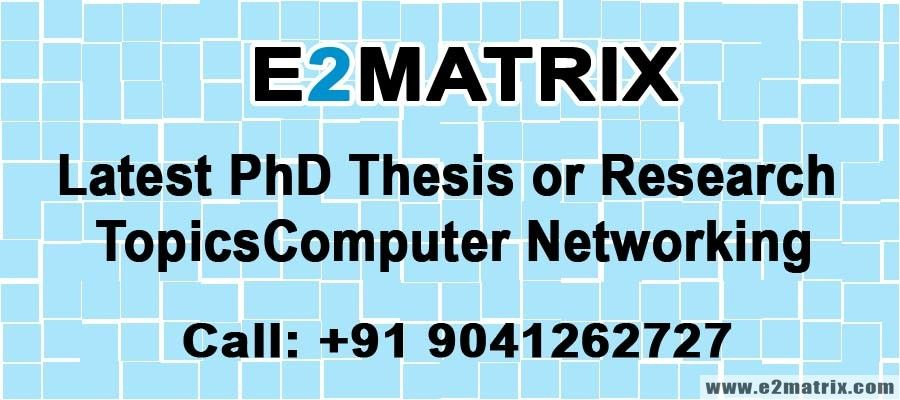 Phd thesis networking