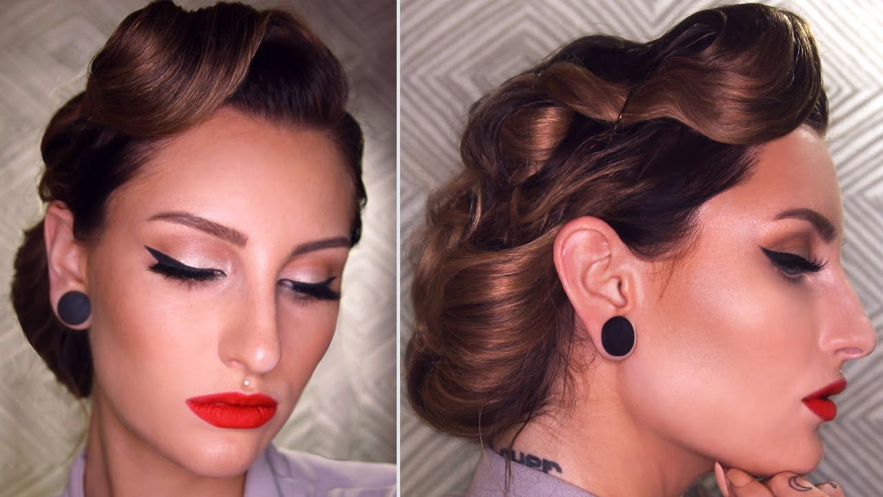 50 Dreamy Wedding Hairstyles For Long Hair: EASY 50's INSPIRED VINTAGE UPDO HAIRSTYLE TUTORIAL