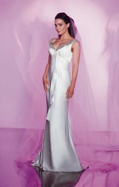 Silky, smooth and oh so comfy. Beautiful and elegant wedding gown by ...