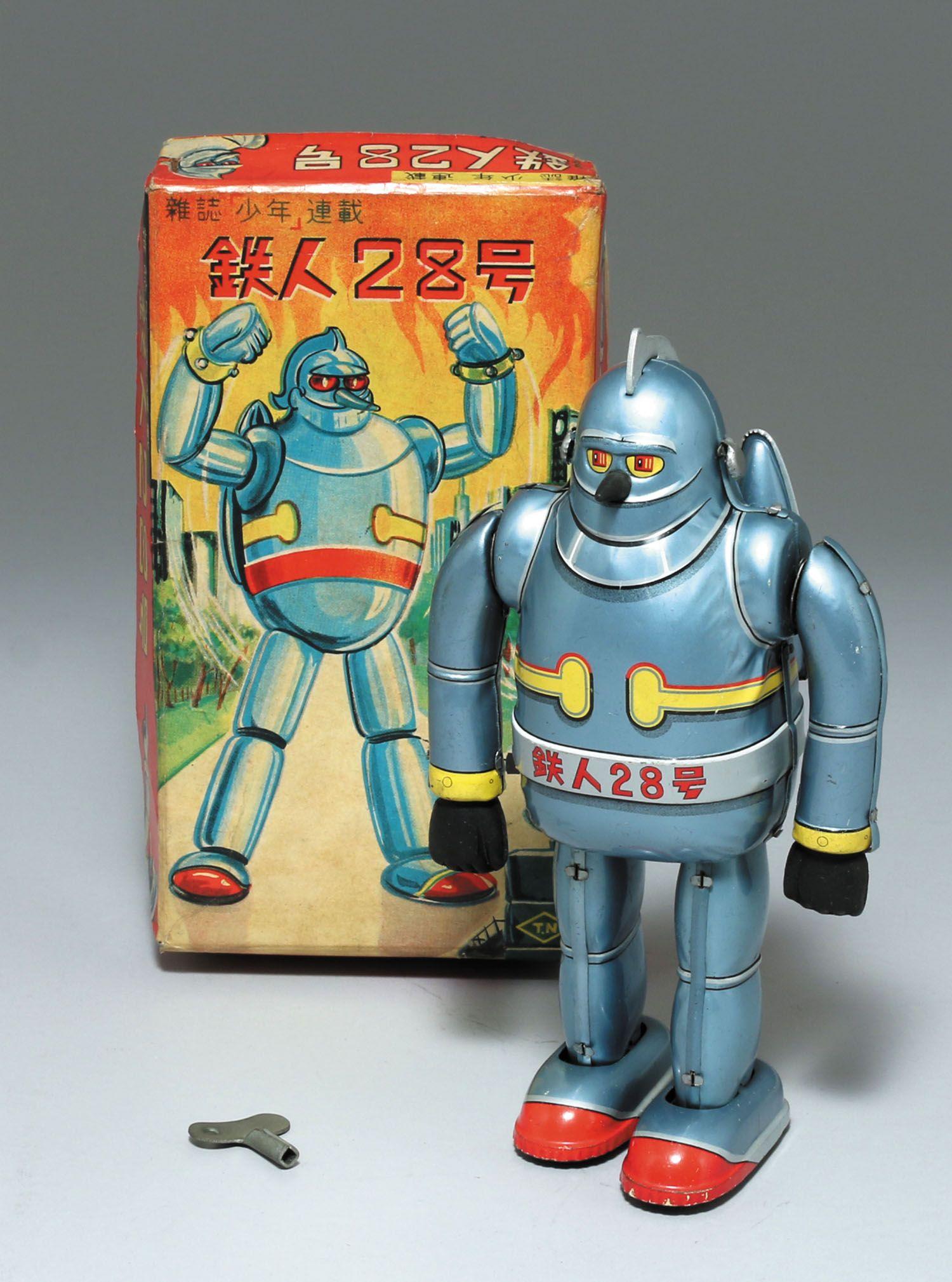野村トーイ ブリキゼンマイ鉄人28号 グレーメタル アンティークのおもちゃ 日本のおもちゃ レトロなおもちゃ