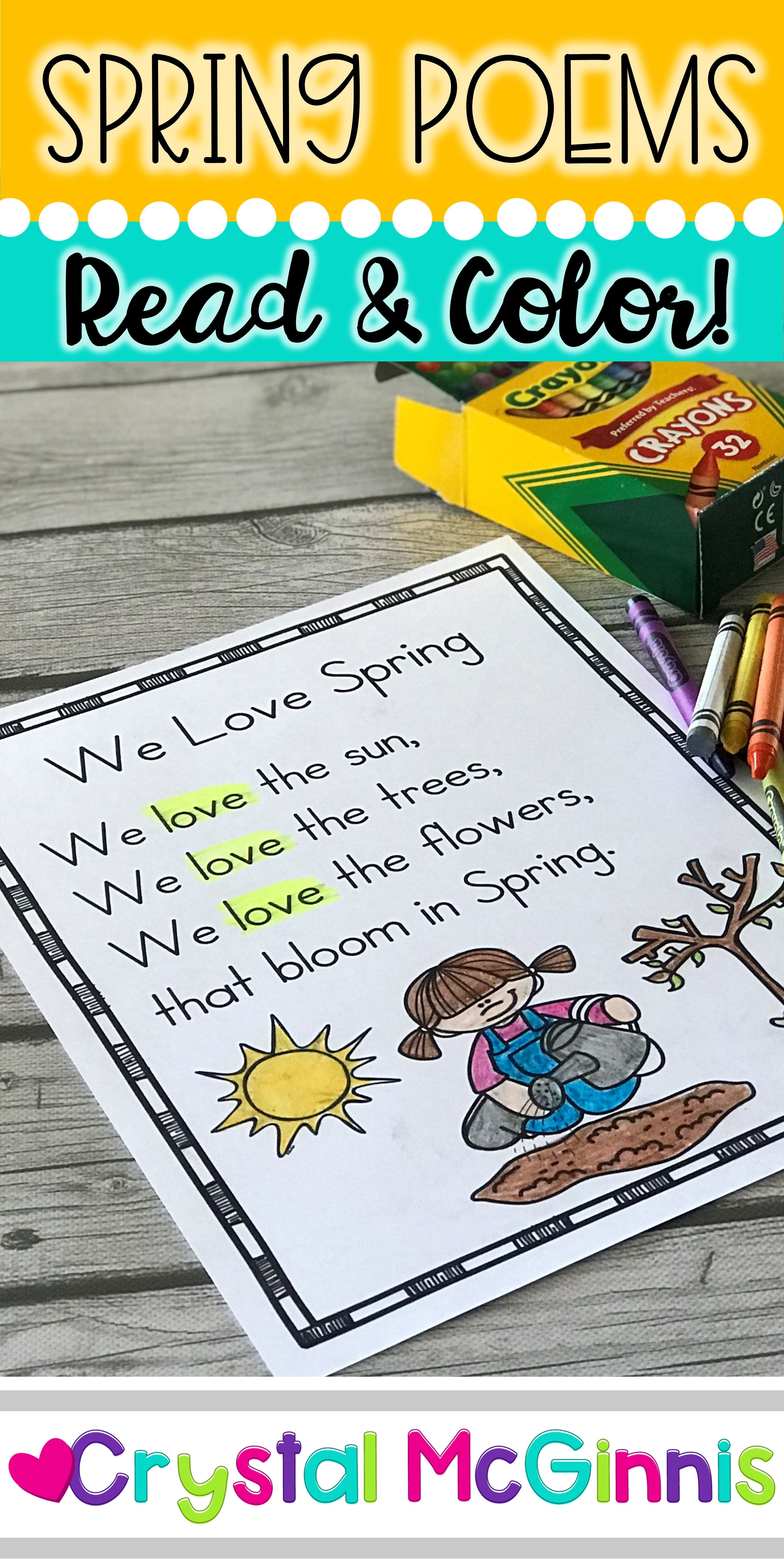 Spring Sight Word Poems   Sight word reading, Sight words, Shared ...