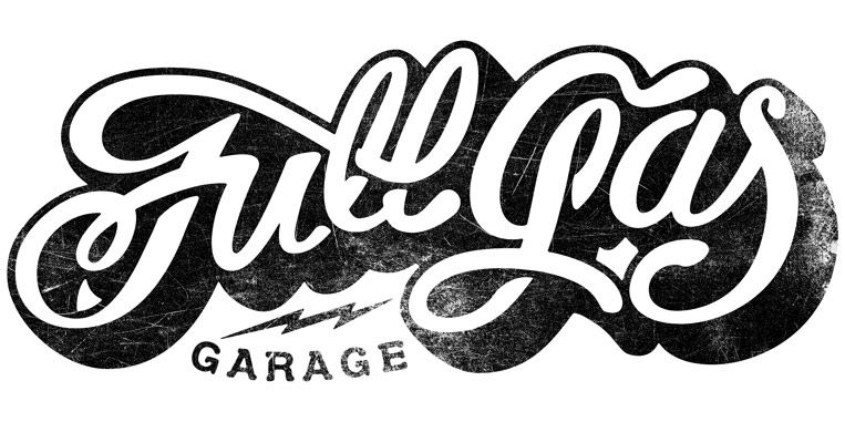 Full Gas Garage, BCN | Retro logo design, Lettering, Logo design