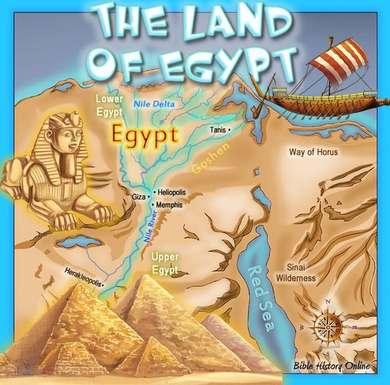 The Land of Egypt in Bible Times: