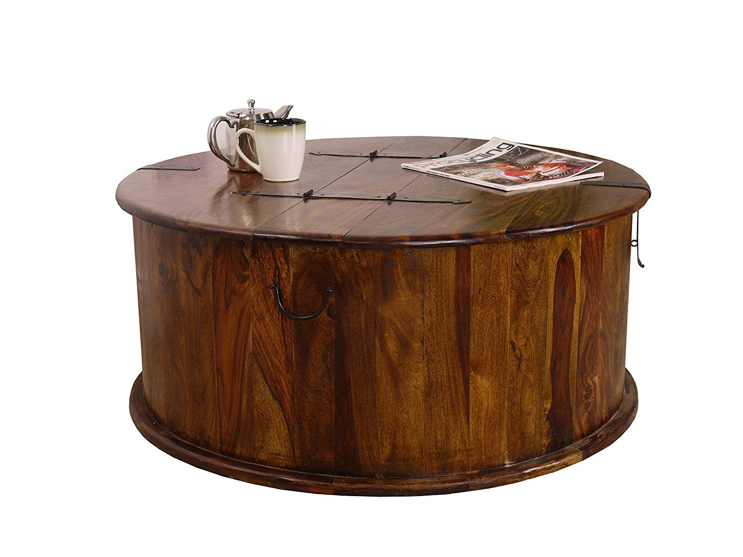 Maharajah Indian Rosewood Round Trunk Coffee Table Amazoncouk