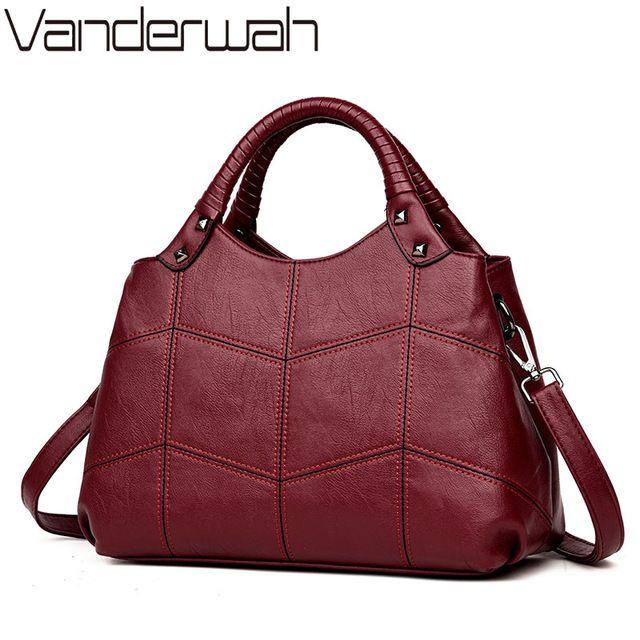 8499cf5dab08 Vanderwah бренд Half Moon сумка Роскошные кожаные сумки, женские сумки  дизайнер Вышивка дамы руки мешок