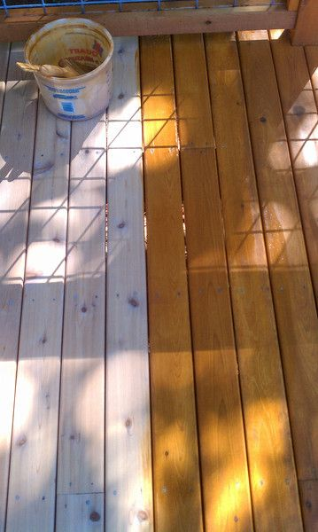 Armstrong Clark Semi Transparent Cedar Stain On A Cleaned