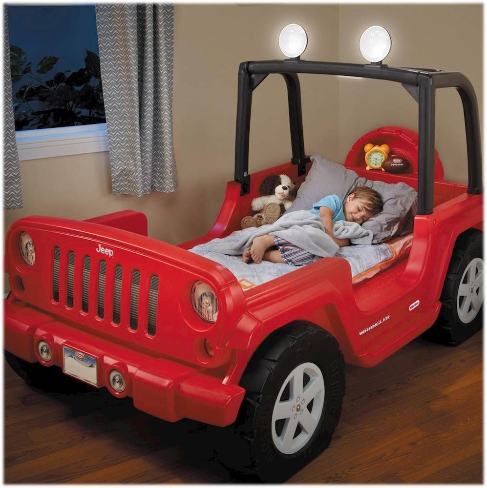 "Little Tikes Jeep Wrangler 53"""" Toddler/Twin Bed Red"