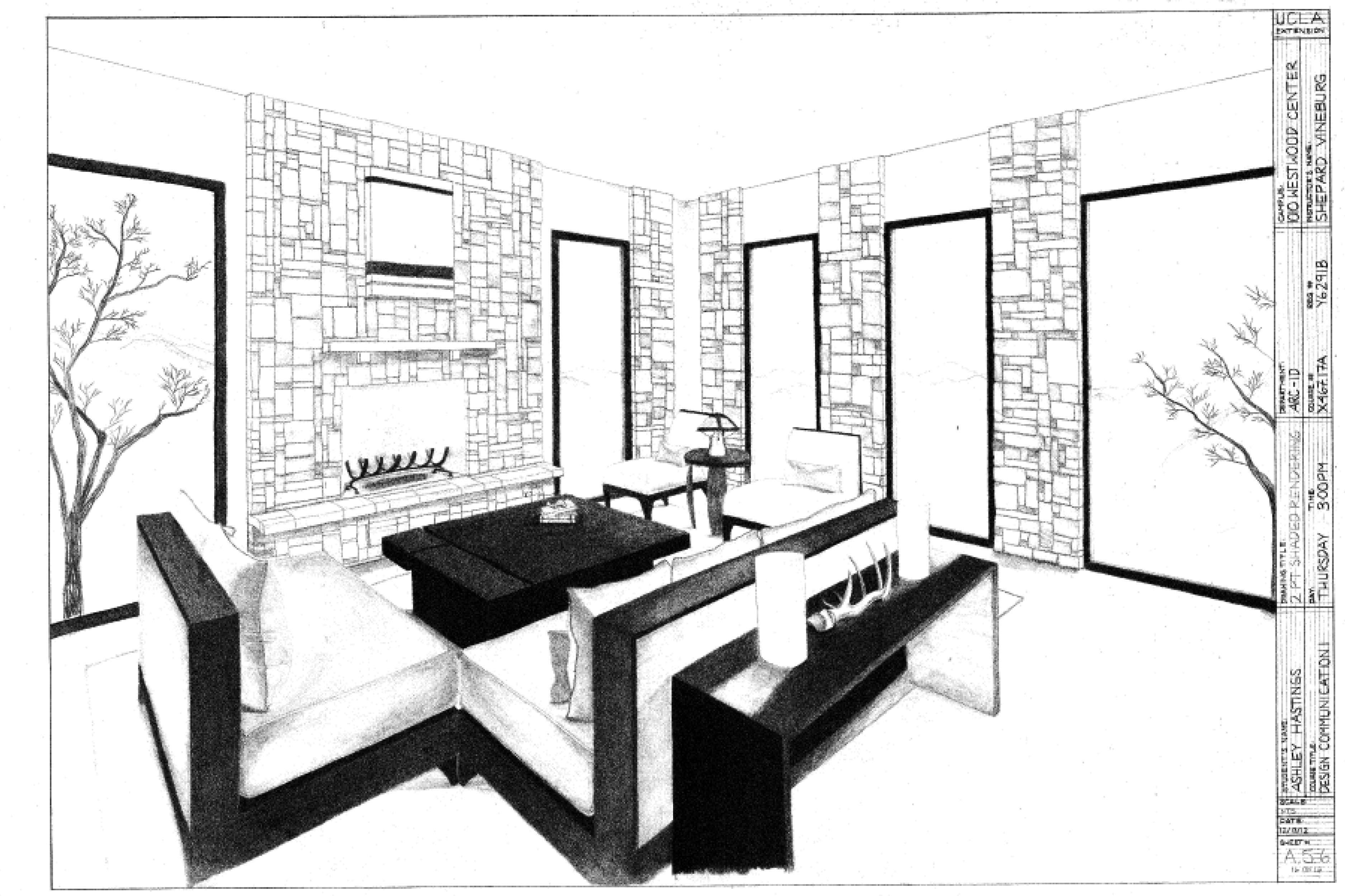 Two Point Perspective Interior . Part 17