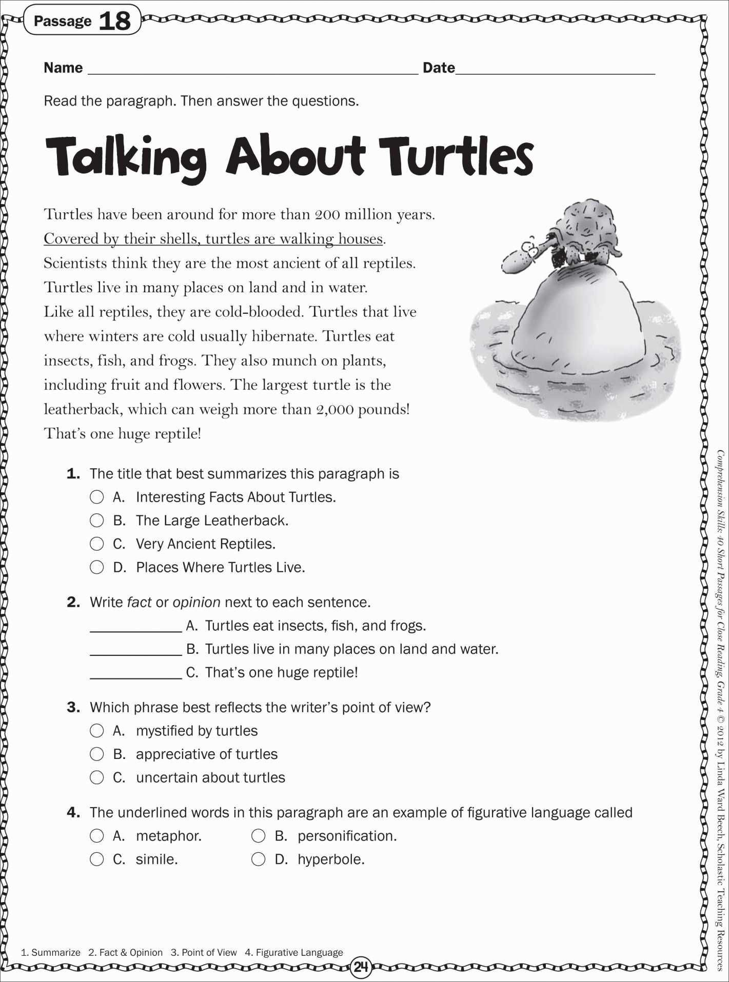 6 Reading Worksheets Middle School In