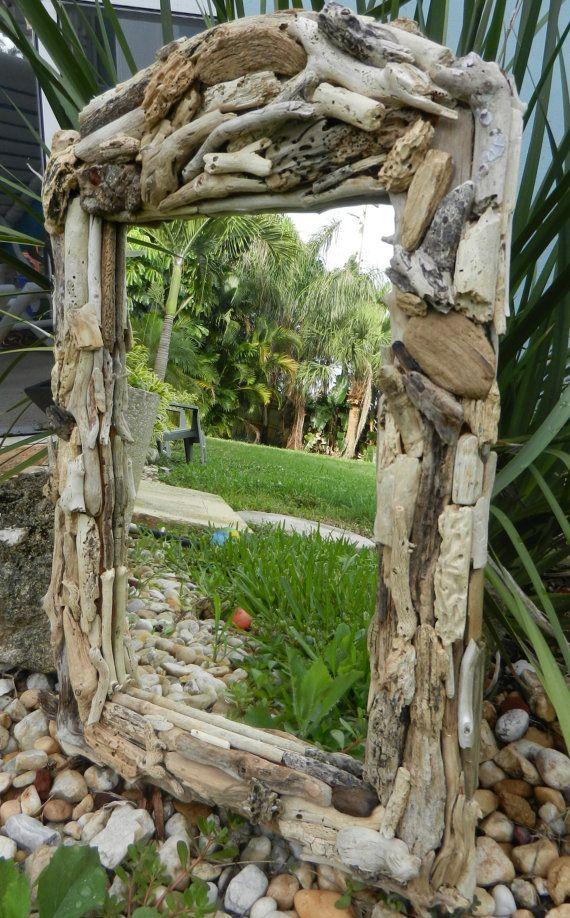 Driftwood Mirror by BeachwoodDreams on Etsy, $110.00
