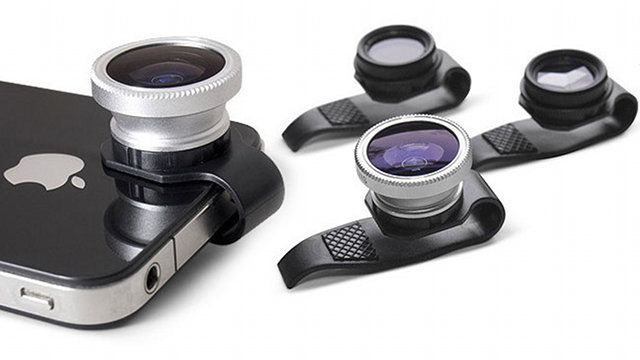 Clip-On Lenses for your iPhone.