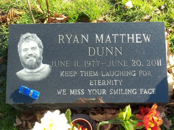 Ryan Dunn 1977 2011 There Is A Little Toy Car On The Headstone