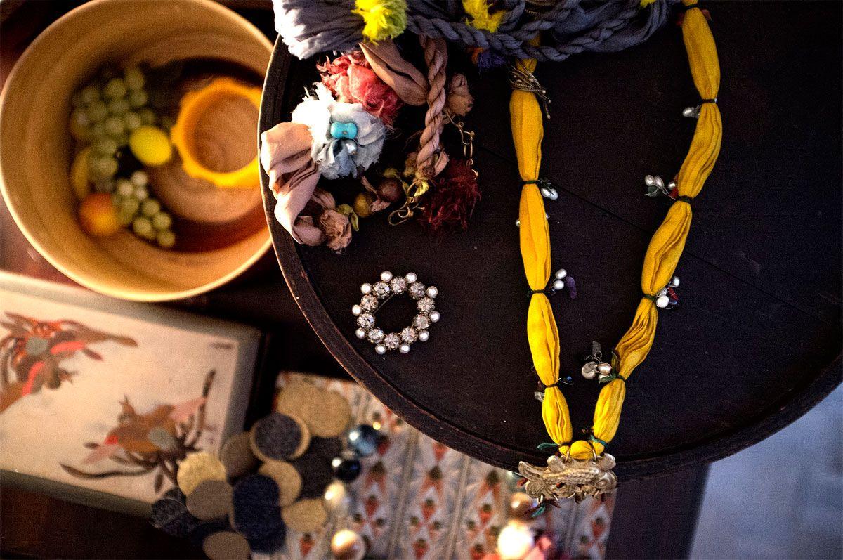 Italian architect, Federica Aimi unveils her jewellery collection to the BACOLuxury team. (c) Salvo Sportato