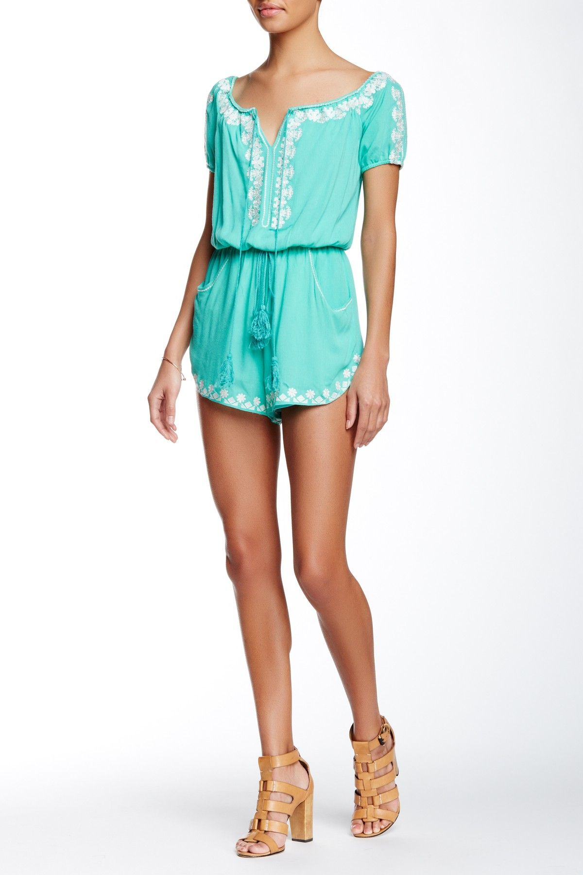Miranda Embroidered Romper by Meghan LA on @nordstrom_rack