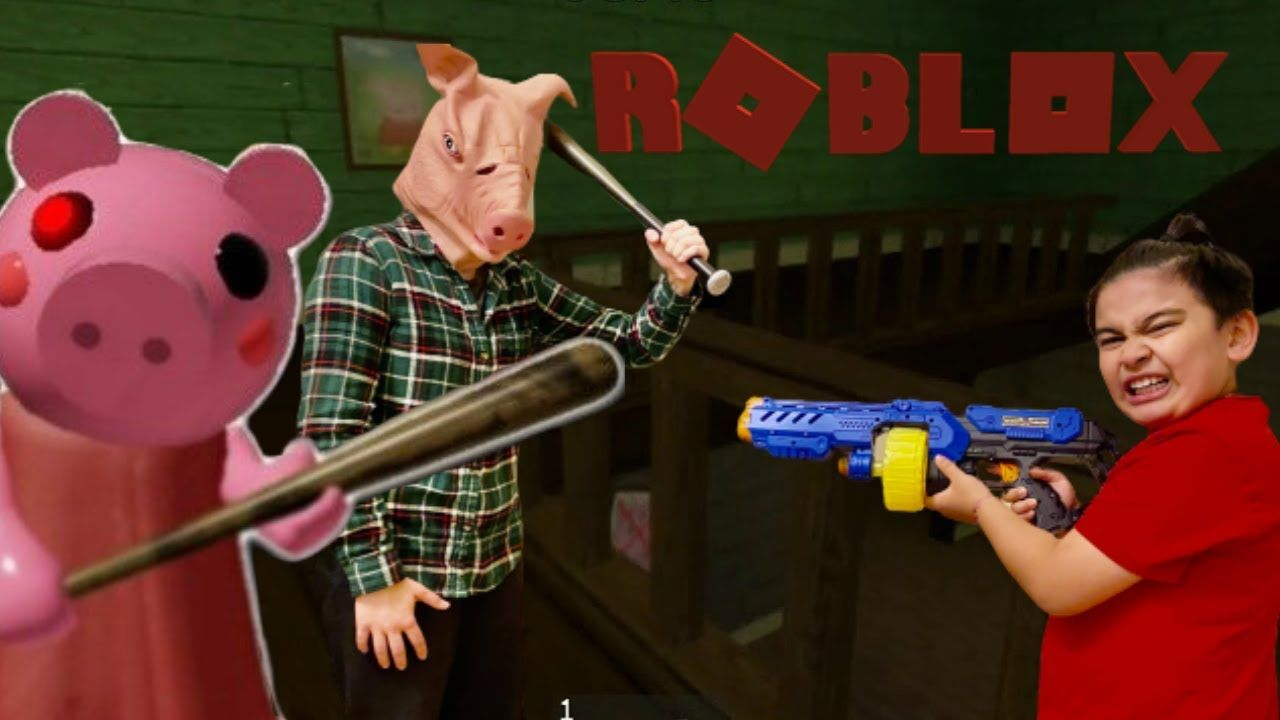 Psycho Piggy Roblox Game In Real Life Collect Toys And Get Out Scary P In 2020 Roblox Escape Game Piggy
