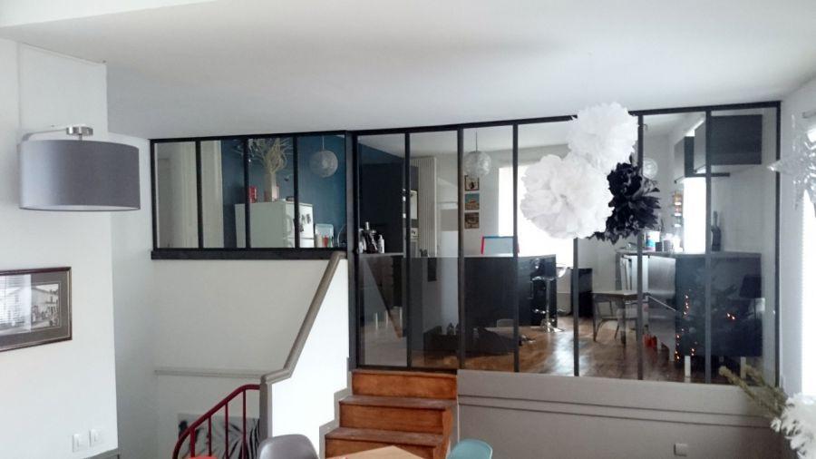 verrière_intérieur_entre_cuisine_salon verrière atelier intérieure