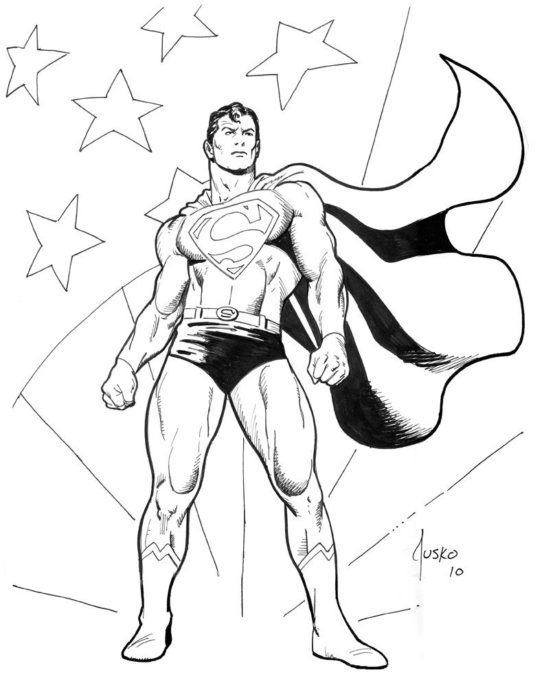 superman coloring pages | PATRIOTIC SUPERMAN-MegaCon by JoeJusko on ...