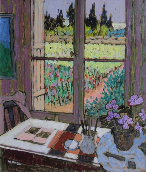 View from the Garden Studio by Mike Hall from Bell Fine Art, Winchester, Hampshire, UK