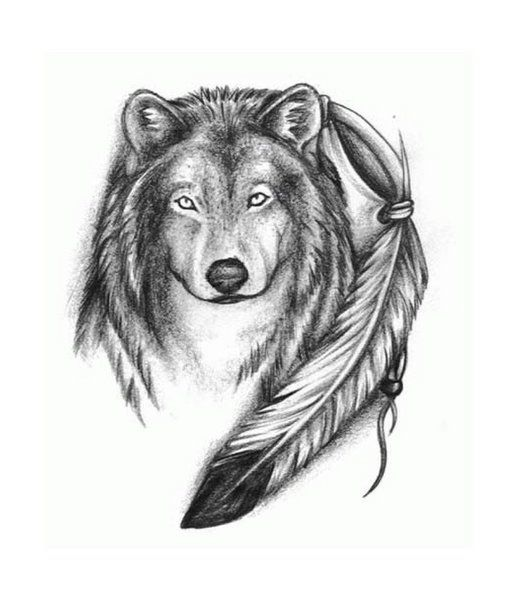 Trickkpony Wolf Tattoo Sleeve Wolf Drawing Native American Eagle Feather Tattoo
