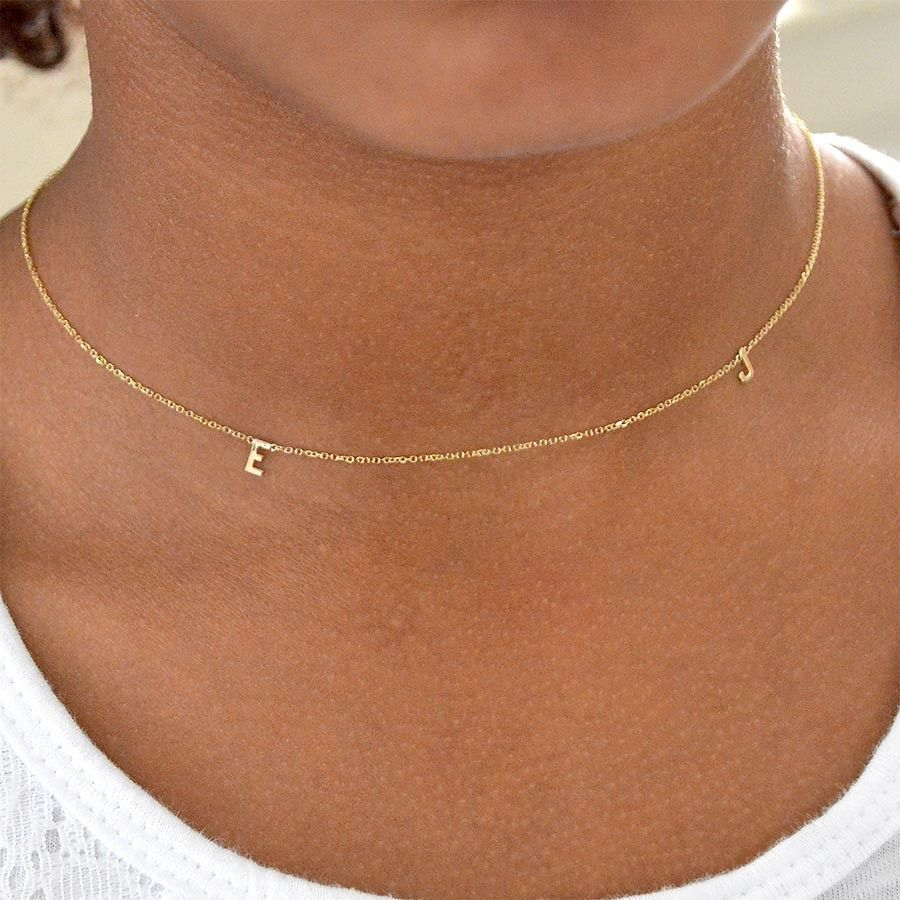 10k Initial Necklaces 10kt Letter Necklace Alphabet Necklace Initial Chain Handmade Gold Leaf Necklace Initial Necklace Initial Necklace Gold