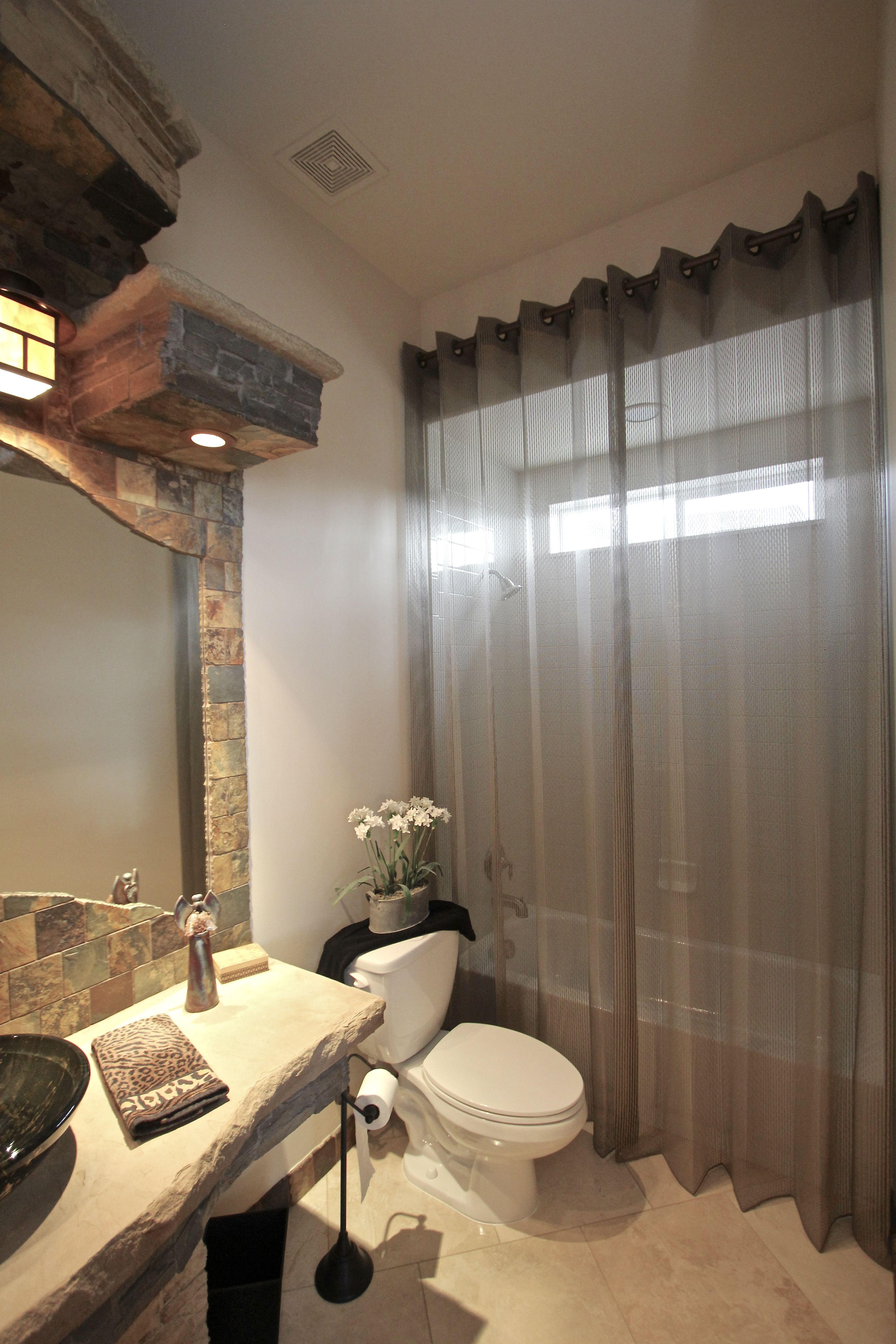 Shower curtain drape to hide tile, but let light through-Flair 21 ...