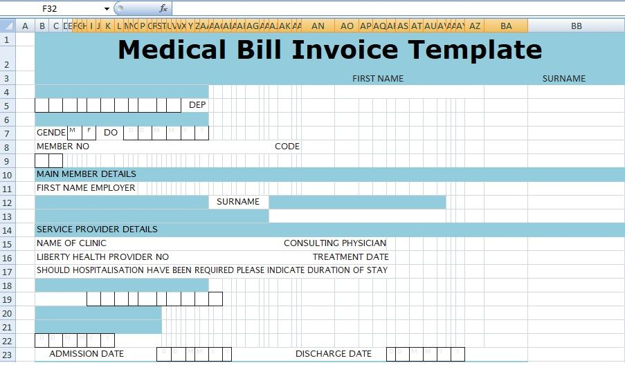 12+ Hospital Invoice Sample {DOC Format} - Free Download Invoice - invoice spreadsheet template free