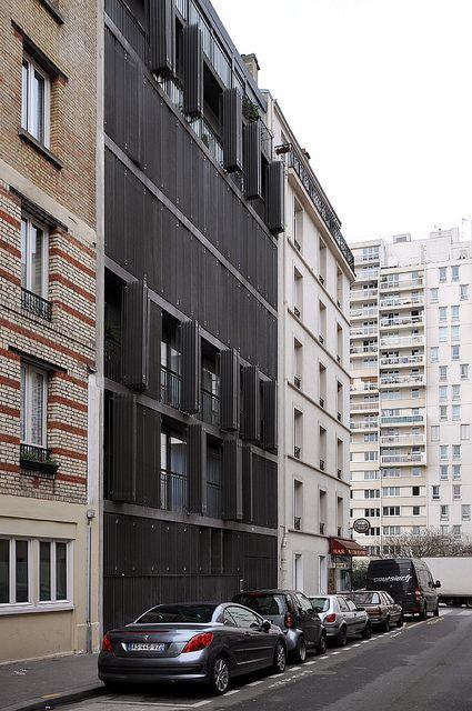 Paris Rue Des Suisses Herzog De Meuron Facade Architecture
