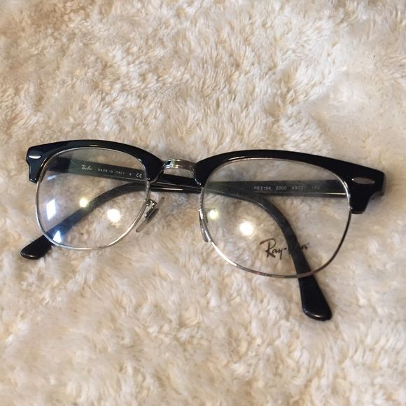 28be9f3f9a Ray ban no prescription plastic lens glasses Not prescription glasses.  Clear plastic lenses Ray-Ban Accessories Glasses