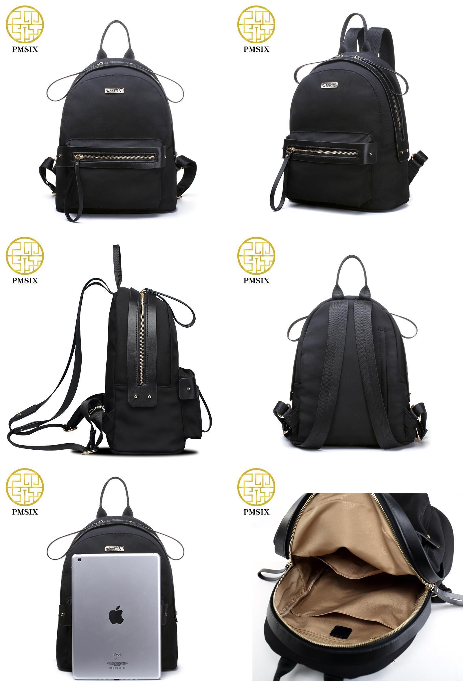 9521fa0d7b  Visit to Buy  PMSIX 2017 Autumn Winter New Women Black Backpack Waterproof  Fashion Travel
