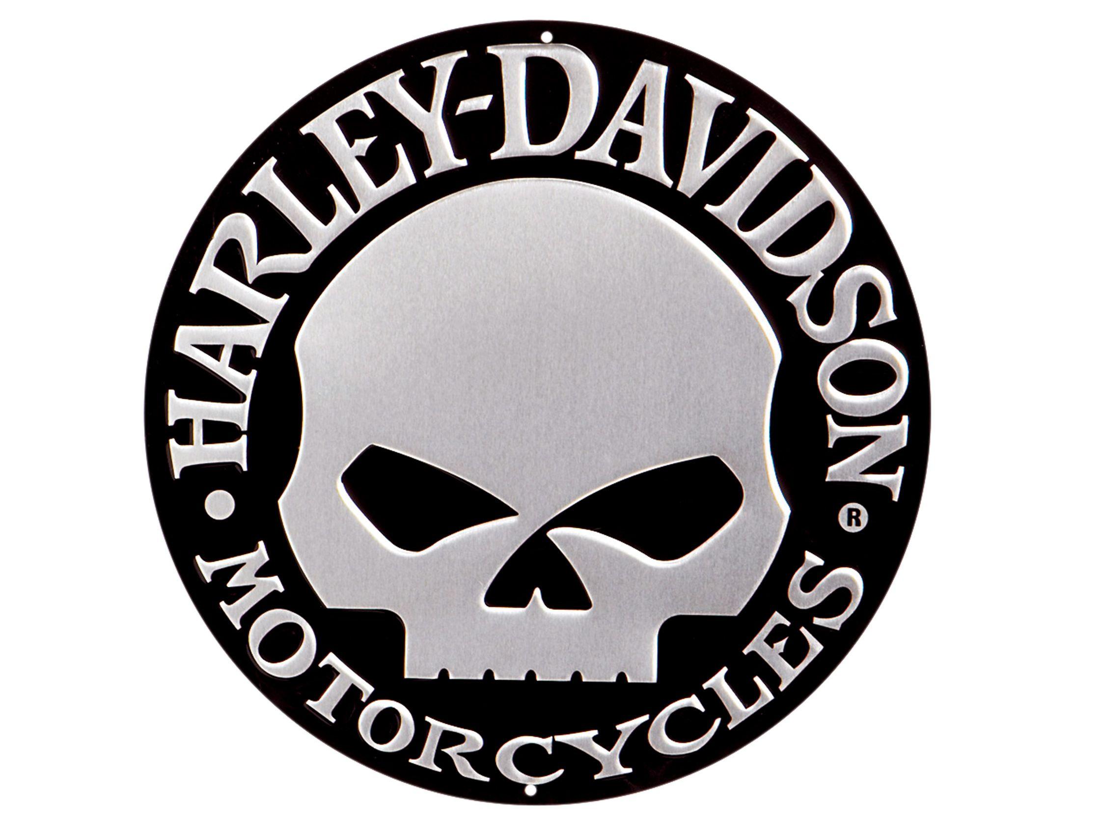 harley davidson number 1 skull logo background 1 hd. Black Bedroom Furniture Sets. Home Design Ideas
