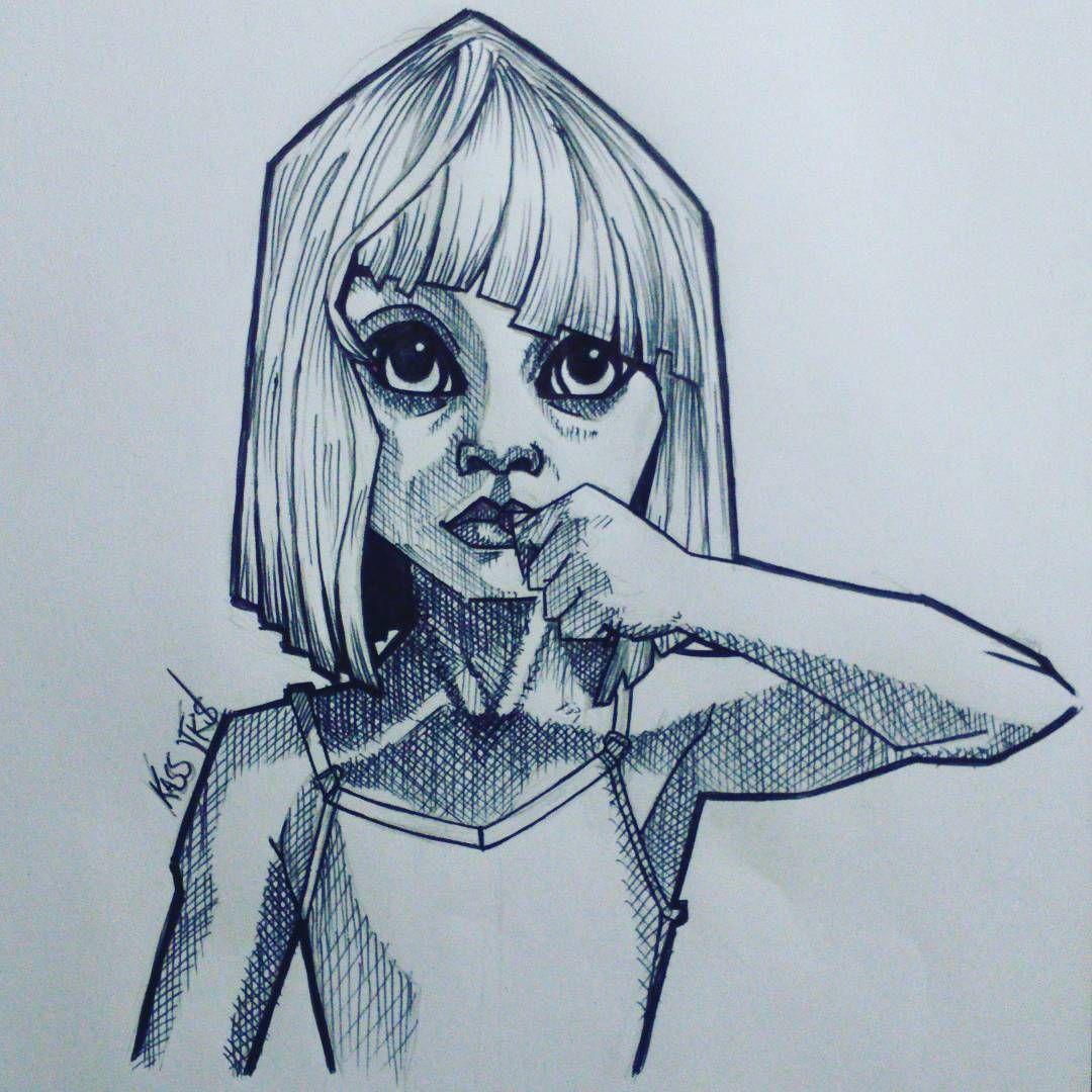 Sia Maddieziegler Chandelier Desenh4ndo Caricature Fanart