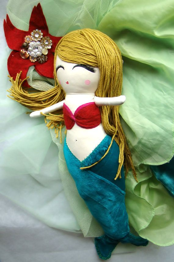Custom Cloth Mermaid Doll by Mend by MendbyRubyGrace on Etsy
