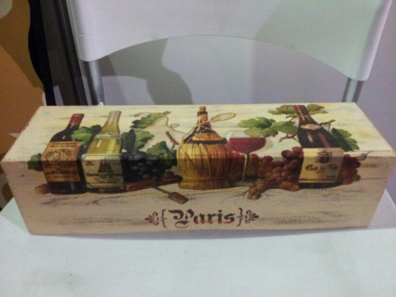 Caja para vino decoupage cajas decoradas pinterest - Cajas de vino de madera decoradas ...