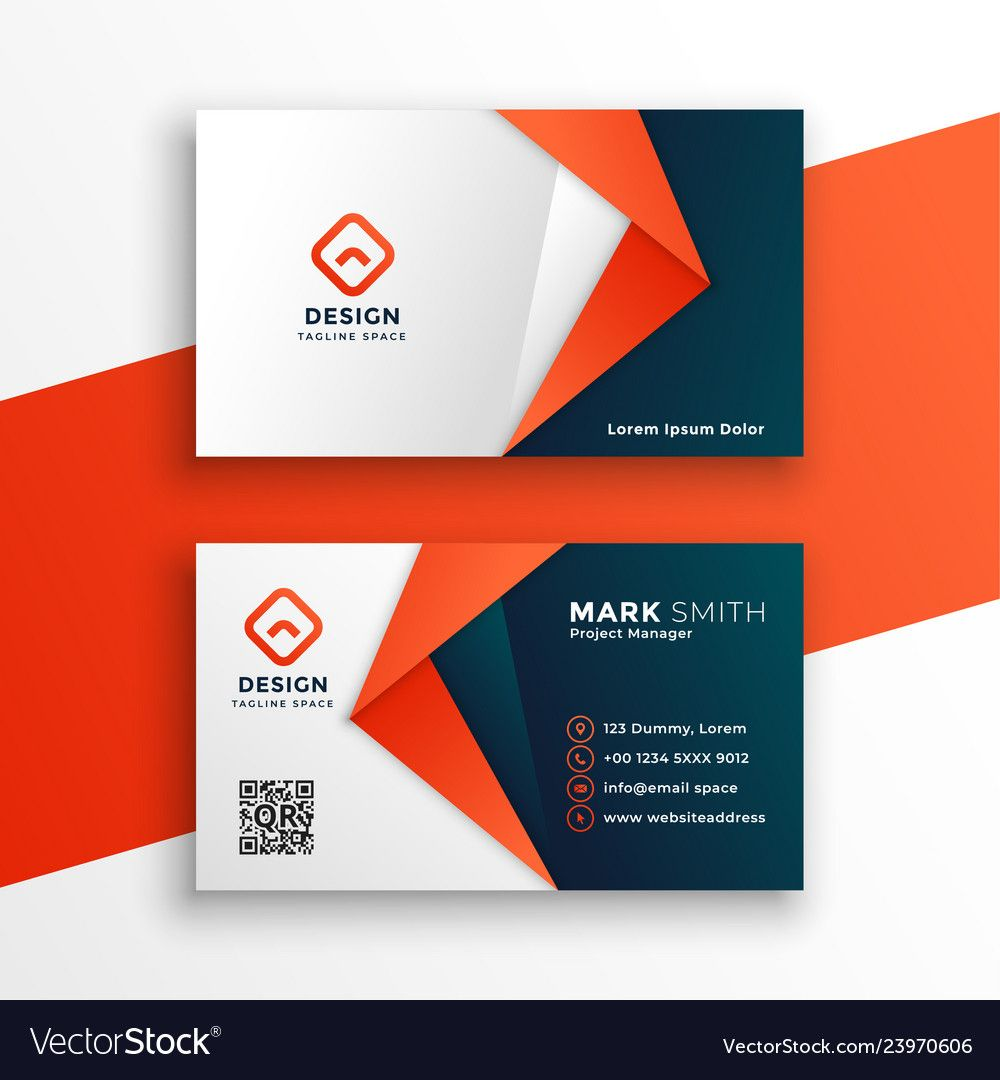 Professional Business Card Template Design Pertaining To