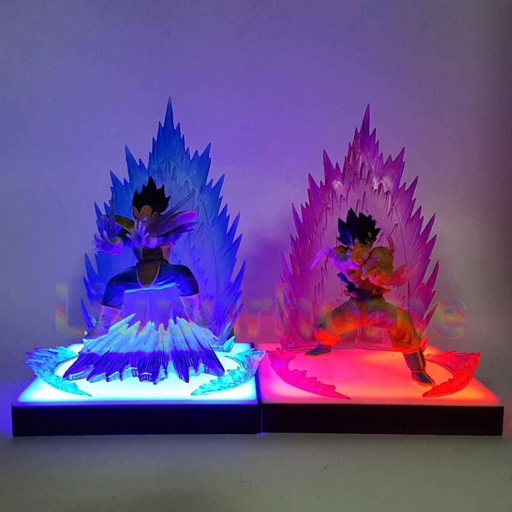 Vegeta Avec LedLampe De Et Goku À Figurine Son Plateforme OkZuPXi