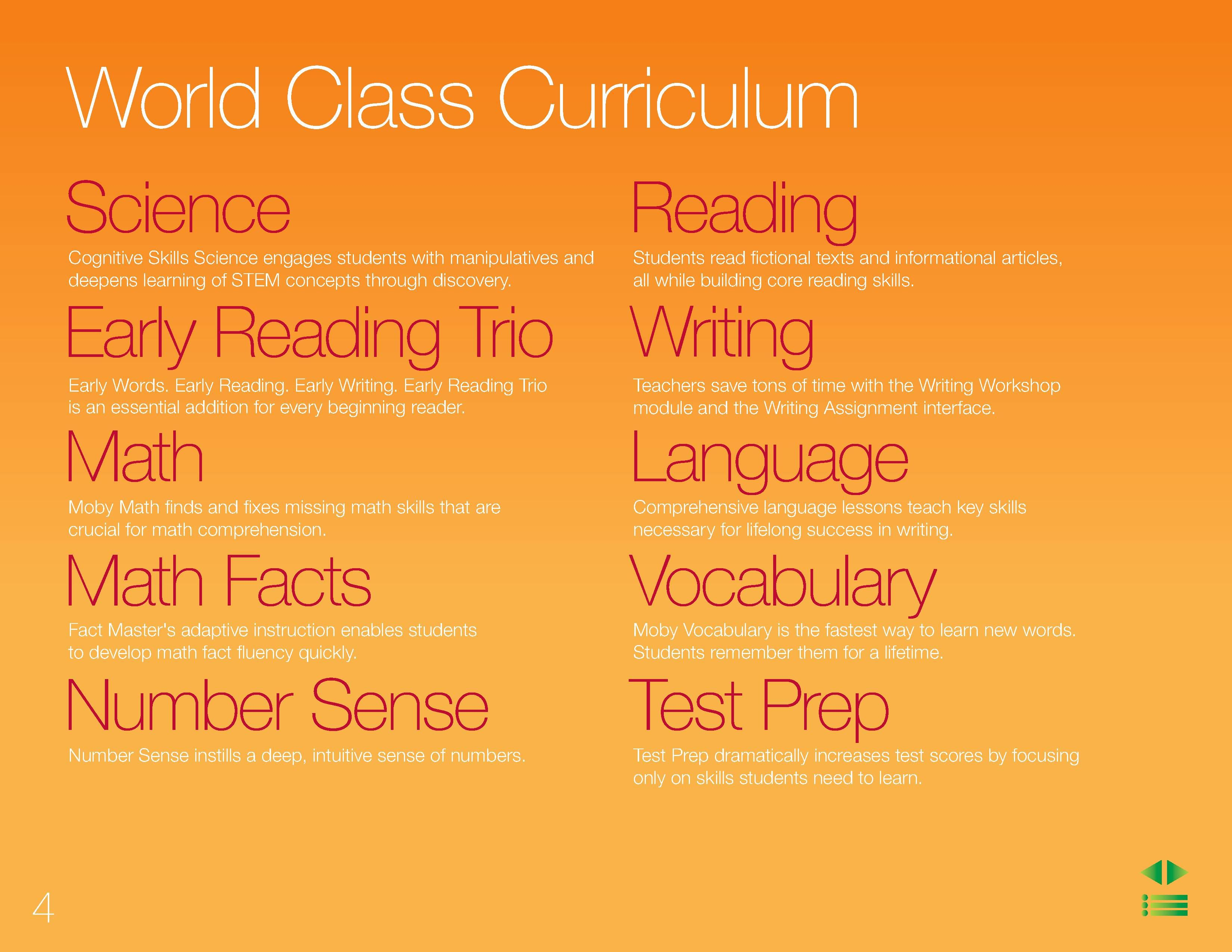 World Class Curriculum | The MobyMax curriculum covers science ...