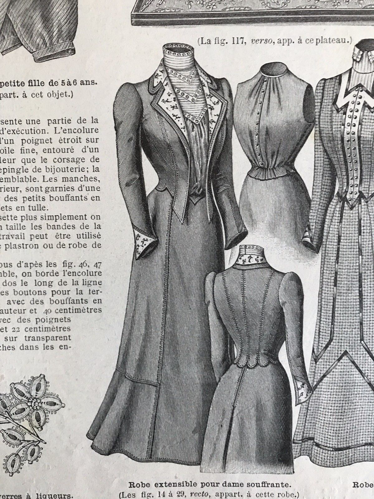 Dressing Dans Petite Piece french mode illustree sewing pattern june 30,1901 princess