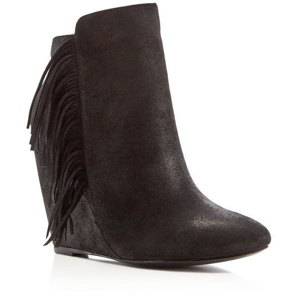 charles david irene fringe wedge booties compare at 250