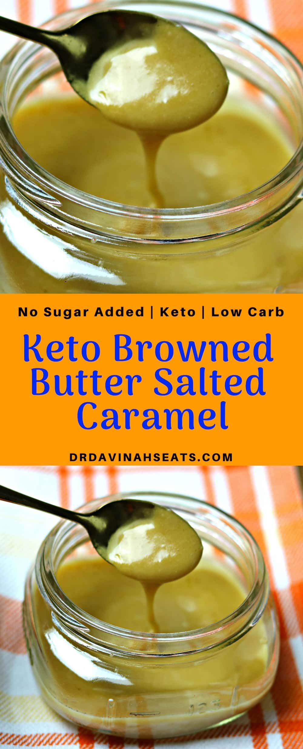Keto brown butter salted caramel recipe no sugar added