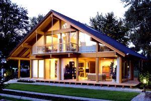 architektur ein haus aus holz und glas, energie sparend | ideen, Moderne